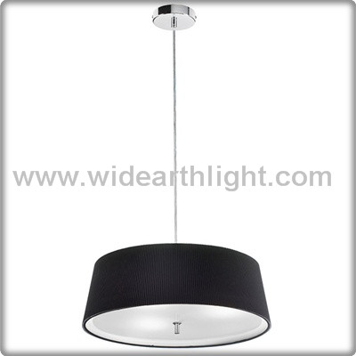 UL Listed Modern Black Hanging Lamp With Acrylic At Bottom Hotel Round Pendant Light Fixture C50203