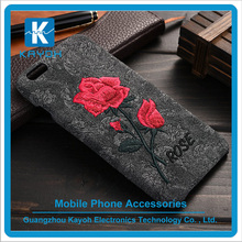 [kayoh] Beautiful Embroidery Rose Flower Mobile Phone Case For iPhone Cover Case Accessories