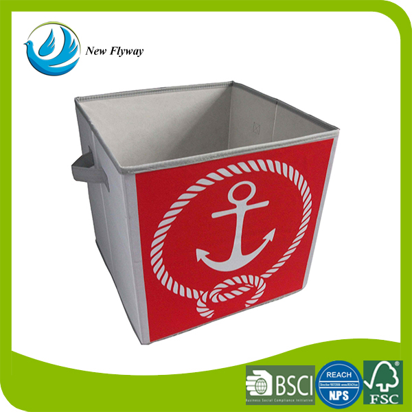 cute Anchor designs red folding cube clothing storage box