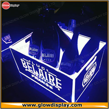 GlowDisplay LED Illuminated Luc Belaire Sparkling Rare Rose Champagne Ice Bucket