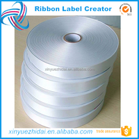 Garment Accessory for Printing Label,Blank Roll of Double Sided Satin Ribbon