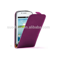 Slim Filp Leather back cover case for samsung galaxy win i8552