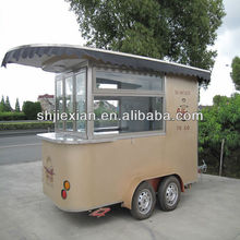 2014 CR320 Stainless Steel Luxury Street Sale Coffee Mobile Food Vending Cart for sale