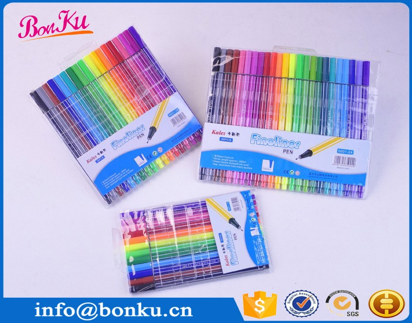 24 Colors art paint draw Marco Fineliner Pens 0.4 mm Super Fine Drawing Marker