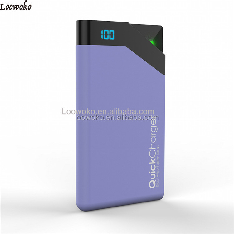 Hot Sale Elegant Lcd 8000Mah Dual Usb Charger Power Bank