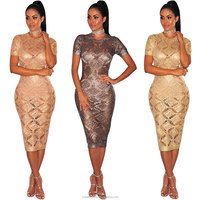new design ladies wears women sexy short lace dress wholesale price
