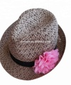 New arrival Promotion personalized adult fedora paper straw hat