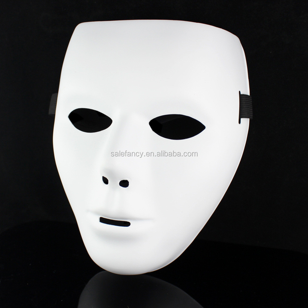 White Paper Party Eye Mask Simple Design Masquerade Party Mask ...