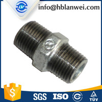Hex nipples electric galvanized nipple malleable iron pipe fitting