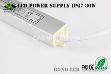 CE ROHS listed ip67 power supply waterproof 30w 12v 2.5a led transformer bond company