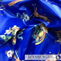 cheap 100%polyester high quality printed taffeta fabric for women