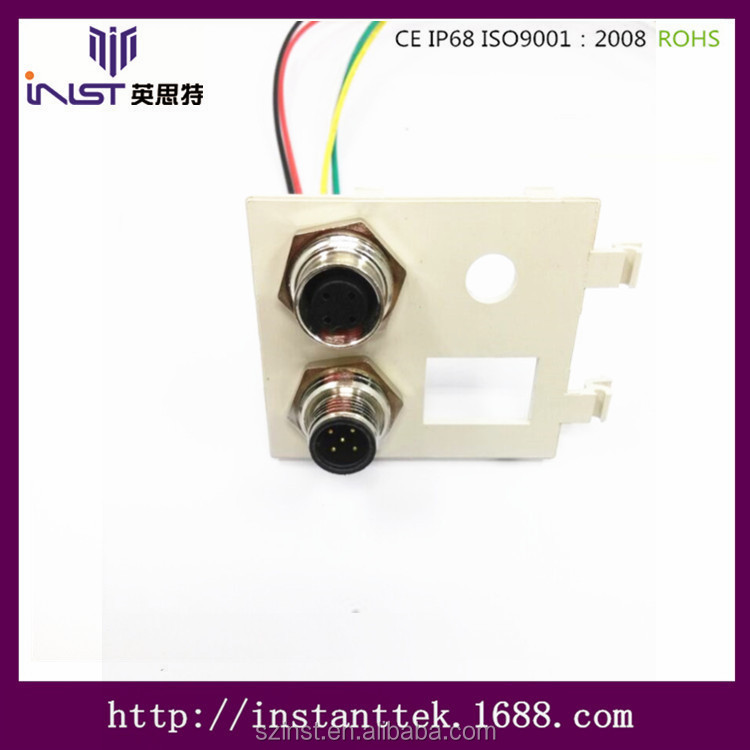 INST m12 pcb panel mounted Electrical Wiring Connectors