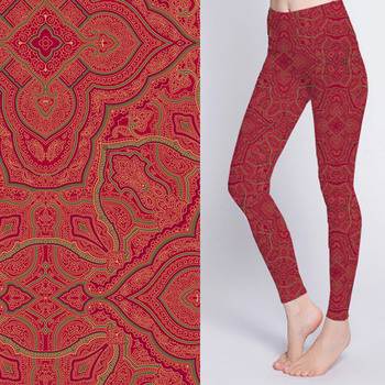 Good quality polyester microfiber 150gsm 40D printed polyester knit fabric for yoga tights pants
