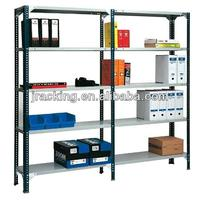 Nanjing selective powder coating slotted angle plates rack shelf