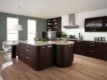 2015 modern european style solid wood kitchen cabinet