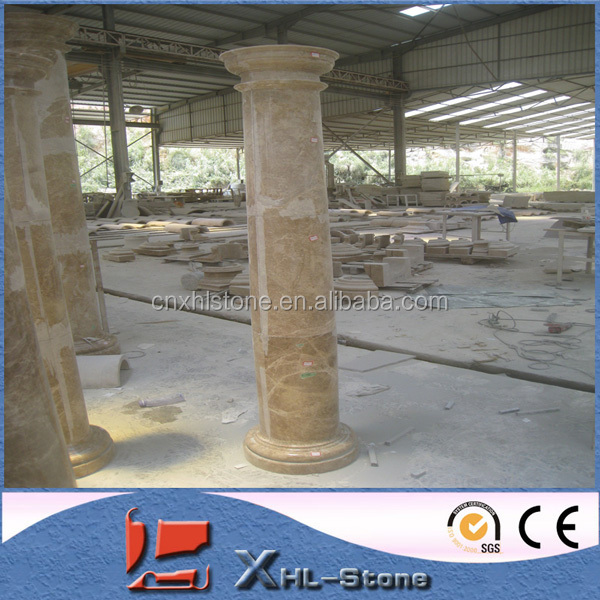 Natural stone decorative column