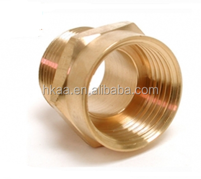 cnc parts brass hex pipe connector brass pipe bushing female thread bush