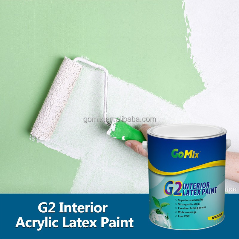 Long Color Retention Eco Friendly G2 Indoor Wall Paint Colors
