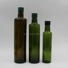 250ml 500ml 750ml round and square empty round dark green olive oil cooking wine glass bottle with cap