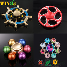 ball colorful alloy rainbow metal finger hand fidget spinner toys for adults