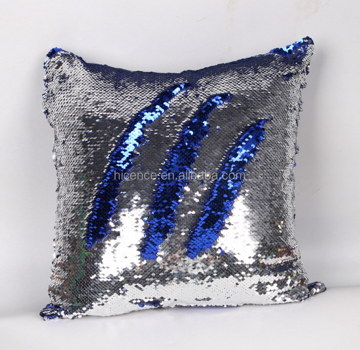 Facebook Reversible Sequin Fabric Color Changing Mermaid Pillow Covers