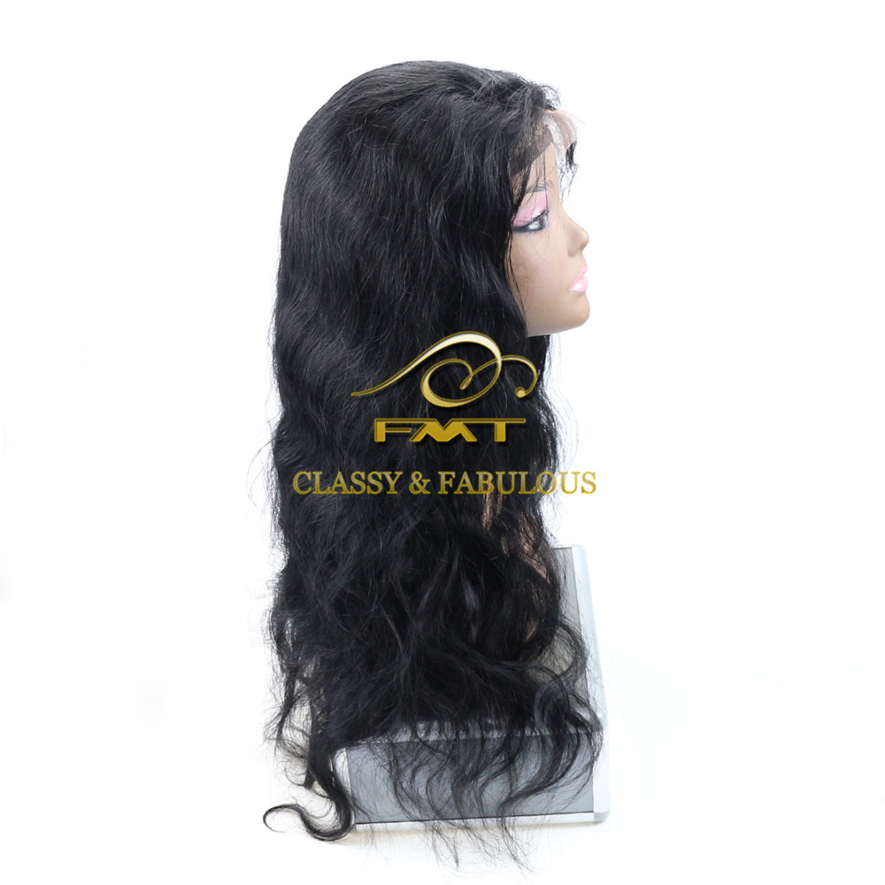 Wholesale Brazilian Top Quality Human Hair Body Wave Hair Full Lace Wigs