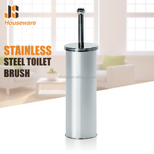 wholesale Free standing round stainless steel toilet cleaning brush