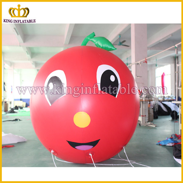 Inflatable apple model for decoration inflatable advertising fruit model