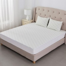 waterproof bamboo jacquard mattress protector bed bug cover fitted sheet
