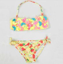 2016 hot fashion girls sexy kids Fashion string bikini / little girls sexy bikini