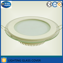 Wholesale Custom Tempered Ultra Clear Round Light Cover Glass