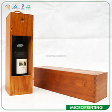2017 New Design Single Red Wine Wooden Boxes With Window And Holder