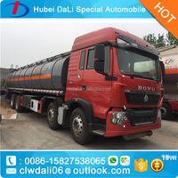 Sinotruk howo 8*4 chemical tank trucks