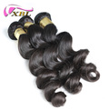 XBL premium quality brazilian 100% virgin human hair extension loose wave