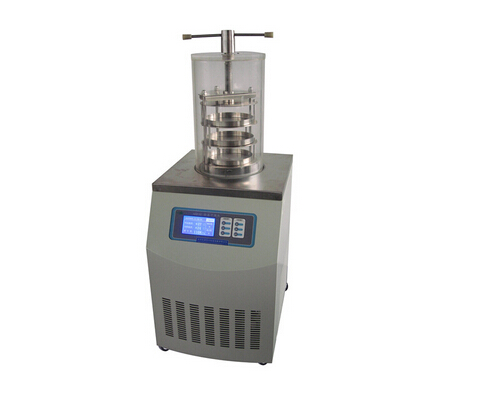 Freeze Dry Lyophilization Machine TOPT-12B Gland-type Lab Vacuum Freeze Dryer with LCD display screen for food , fruit