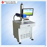 Cellphone case/Keyboard/PCB/PVC/Bar Code/Metal Economic Fiber Laser Marking Machine For Sale With CE