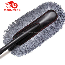 Microfibre soft bristle car wash brush with long handle