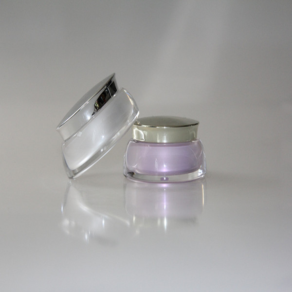 china supplier direct sale acrylic cosmetic bottle and jar,30ml ball shape acrylic jar,15ml gold cosmetic packaging