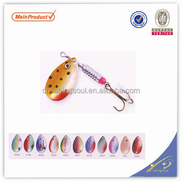 SPL026 lure blank lure lucky craft fishing lure packaging spinner fishing bait spinner