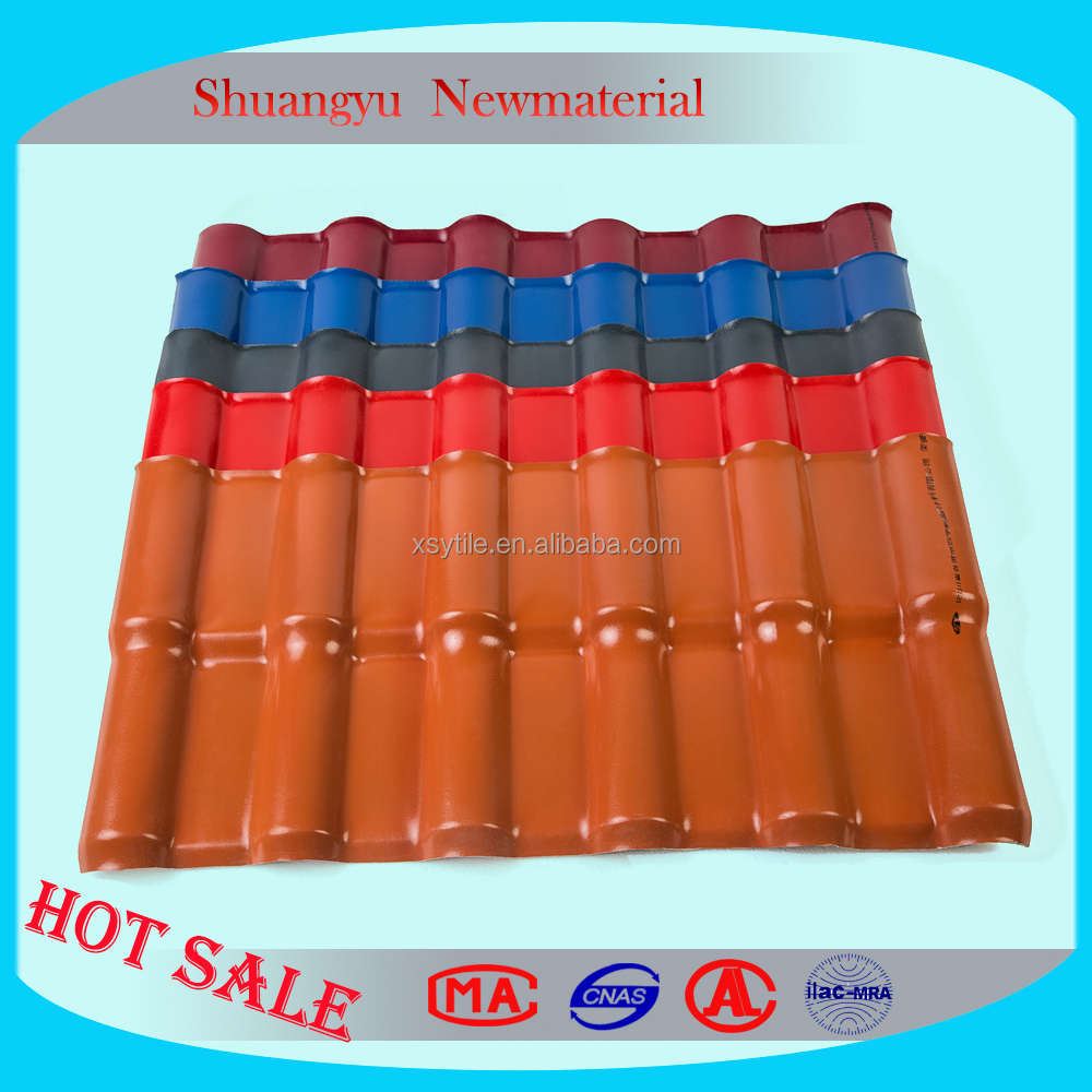 Hot sale Shuangyu Synthetic Spanish Tile/Roofing Tile