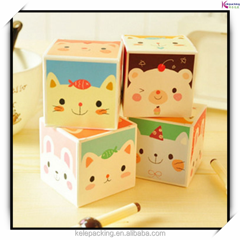 Cute animal sticky note pad/memo pad cube/paper cube
