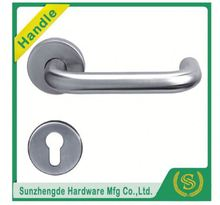 SZD STH-101 Top Quality Round Lever On Square Rose Door Handles Stainless Steel Effect