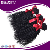 EVET Brazilian Virgin Hair Afro Kinky Curly Human Hair Weave Bundles Brazilian Human Hair Extension Natural Color 100G/Piece
