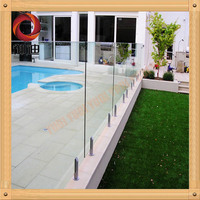 new frameless swimming pool fence used for safety