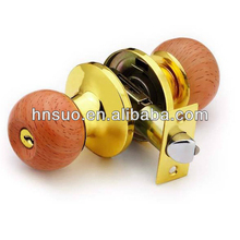 high quality ball wood bedroom knobsets thin door locks