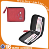Low price latest stylish zipper red PU leather wallet ladies