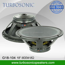 professional stage 18 inch subwoofer bass speaker