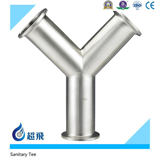 304 316 stainless steel sanitary tri clamp pipe fitting 3A/SMS TEE