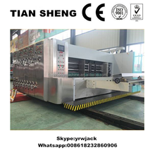 lead edge feeding corrugated cardboard flexo printing slotting rotary die cutting machine