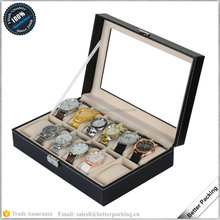 Leather Travel 12 Slots Watch Collection Storage Case Display Box